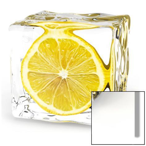 Iced Lemon Konst på glas