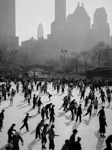 Iceskating in New York Impressão fotográfica