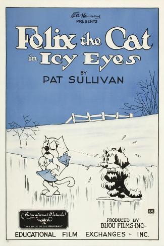 Icy Eyes, Peaches, Felix the Cat on US poster art, 1927 Art Print