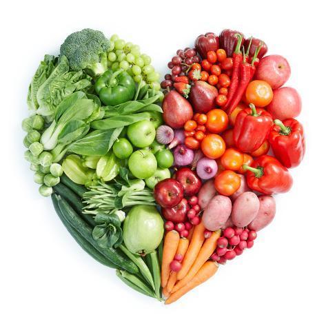 オールポスターズの ifong green and red healthy food 高品質プリント