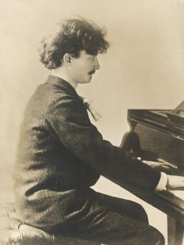 Ignacy Jan Paderewski Polish Pianist Composer and Statesman Playing a Grand Piano Photographic Print
