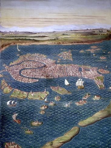 Venice: Map, 16Th Century Giclee Print