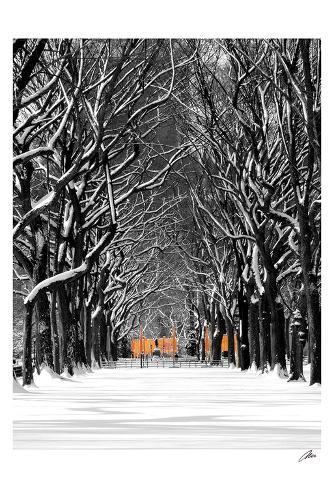 The Gates and Tree Path, Central Park Art Print