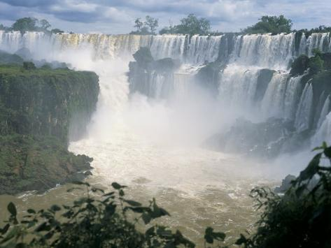 Iguacu (Iguazu) Falls, Border of Brazil and Argentina, South America Photographic Print
