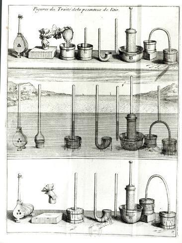 Illustration from Traite de La Pesanteur de LAir by Blaise Pascal Lámina giclée