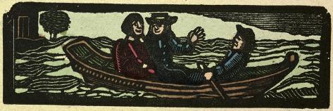 Illustration of English Tales Folk Tales and Ballads. Rowing the Boat Stampa giclée