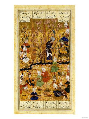 Illustration to the Shahnameh Shiraz, Persia Murhid Al Kabib Al Shirazi, 1539 AD Giclee Print