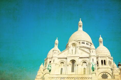 The Sacre-Coeur Church in Montmartre,Paris Photographic Print