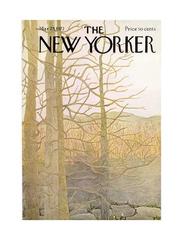 The New Yorker Cover - March 25, 1972 Premium Giclee Print