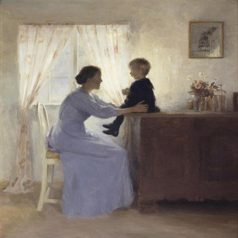 A Mother and Child in an Interior, 1898 Giclee Print