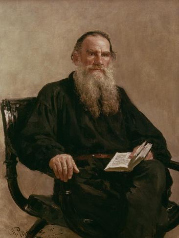 Lev Tolstoy (1828-1810) 1887 Lámina giclée