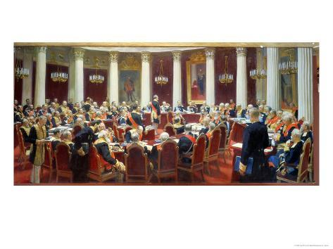 The Ceremonial Sitting of the State Council, 7th May 1901 Giclee Print