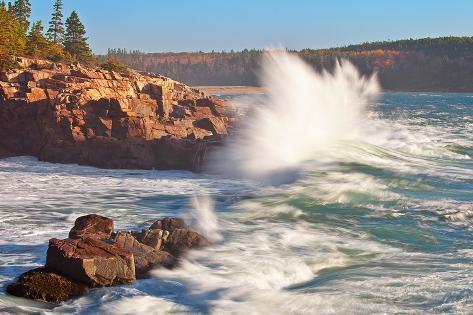 Stormy Acadia Coastline Photographic Print