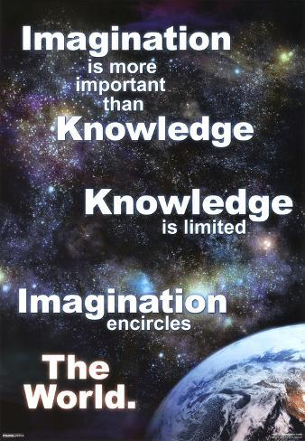 Imagination Earth Motivational Poster Print Mini Poster