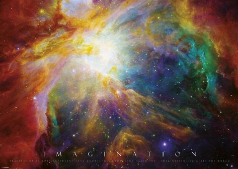 Imagination Nebula - Albert Einstein Quote Giant Poster