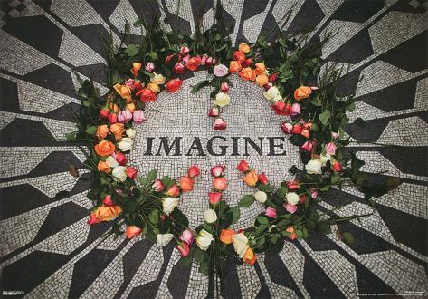 Imagine Central Park Mosaic John Lennon Memorial 3-D Lenticular Music Poster Print Mini Poster
