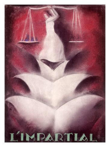 Impartial Legal Scale Giclee Print