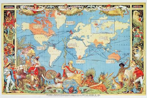 Imperial federation showing the map of the world british empire imperial federation showing the map of the world british empire by captain jc colombo c1886 gumiabroncs Gallery