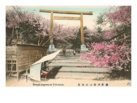 Imyoma Temple, Yokohama, Japan Art Print
