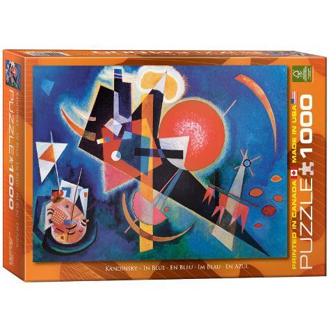 in blue by wassily kandinsky 1000 piece puzzle jigsaw puzzle at. Black Bedroom Furniture Sets. Home Design Ideas