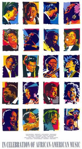 In Celebration of African-American Music Masterprint