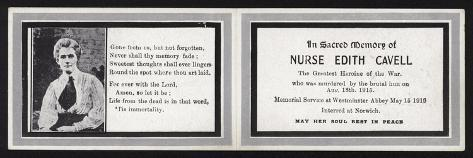 In Sacred Memory of Nurse Edith Cavell Stampa giclée