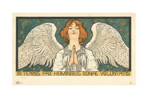 In Terris Pax Hominibus Bonae Voluntatis Postcard Lámina giclée