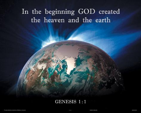 the creation of the earth according to the genesis in the bible The human race: its creation, history things in heaven and on earth according to genesis 2:7.