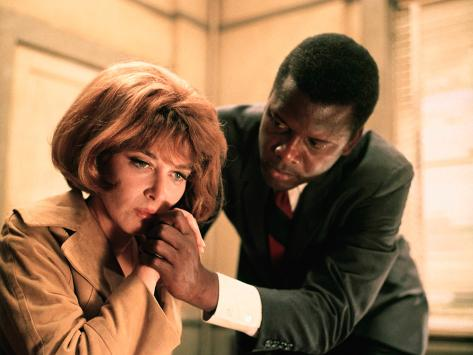 In The Heat Of The Night, Lee Grant, Sidney Poitier, 1967 Photo