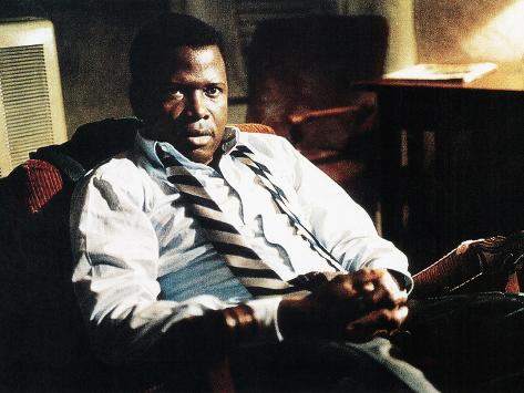 In The Heat Of The Night, Sidney Poitier, 1967 Stretched Canvas Print