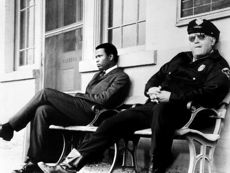 In the Heat of the Night, Sidney Poitier, Rod Steiger, 1967 Photo