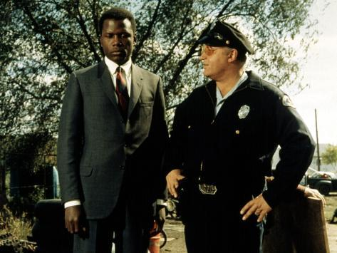 In The Heat Of The Night, Sidney Poitier, Rod Steiger, 1967 写真