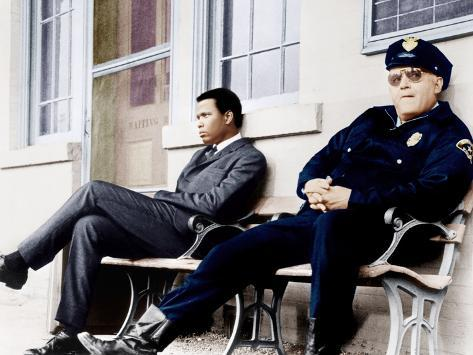 In the Heat of the Night, Sidney Poitier, Rod Steiger, 1967 Fotografia