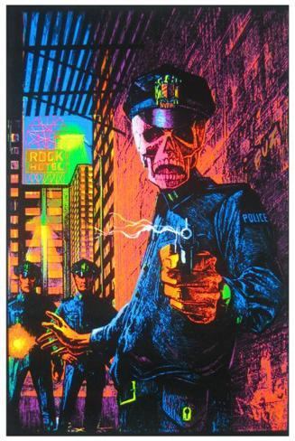 In the Name of the Law Blacklight Poster