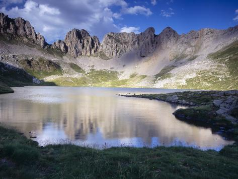 Acherito Lake in the Pyrenees Mountains, Spain Photographic Print