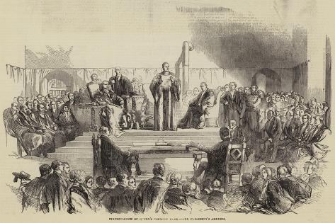 Inauguration of Queen's College Cork, the President's Address Giclee Print