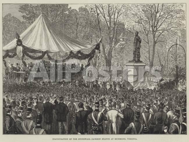 inauguration of the stonewall jackson statue at richmond, virginia ...