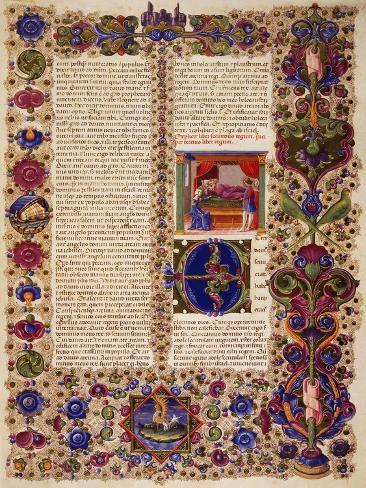 Incipit from First Book of Kings Lámina giclée