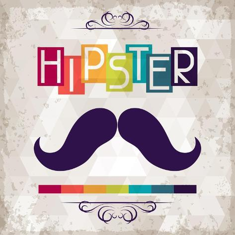 Hipster Background In Retro Style Art Print