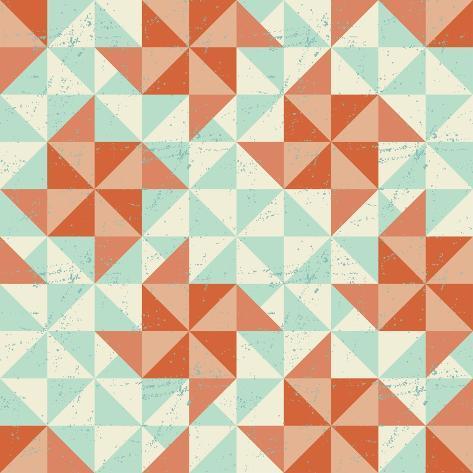 Seamless Geometric Pattern With Origami Elements Art Print