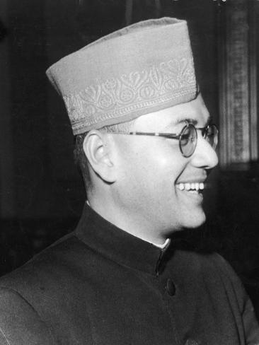 India's Nationalist Leader Subhas Chandra Bose, Who Is Anti-British and Pro-Japanese, During WWII Photographic Print