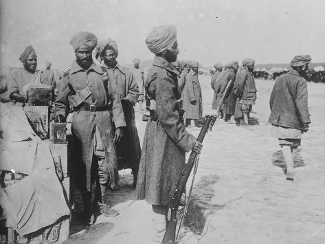 India's Soldiers in France, 1914-1915 Photographic Print
