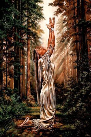 Indian Maiden Pray in ...