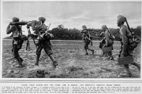 Indian Troops on Active Service in France Stampa giclée