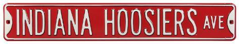 Indiana Hoosiers Ave Steel Sign Wall Sign