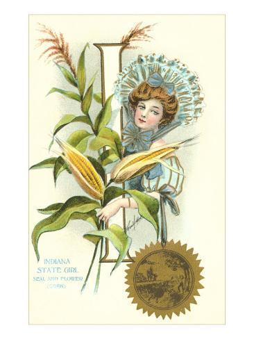 Indiana State Belle, Corn Art Print