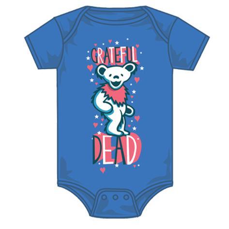 Infant: Grateful Dead - Hearts and Stars Creeper T-Shirt