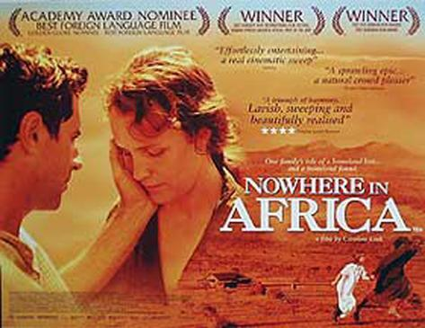 Ingenstans i Afrika Originalposter