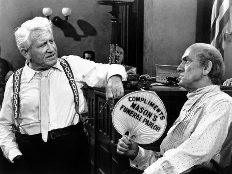 Inherit the Wind, Spencer Tracy, Fredric March, 1960 Photo