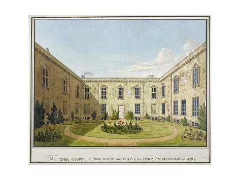Inner Court of Syon House, Isleworth, Middlesex, 1802 Giclee Print